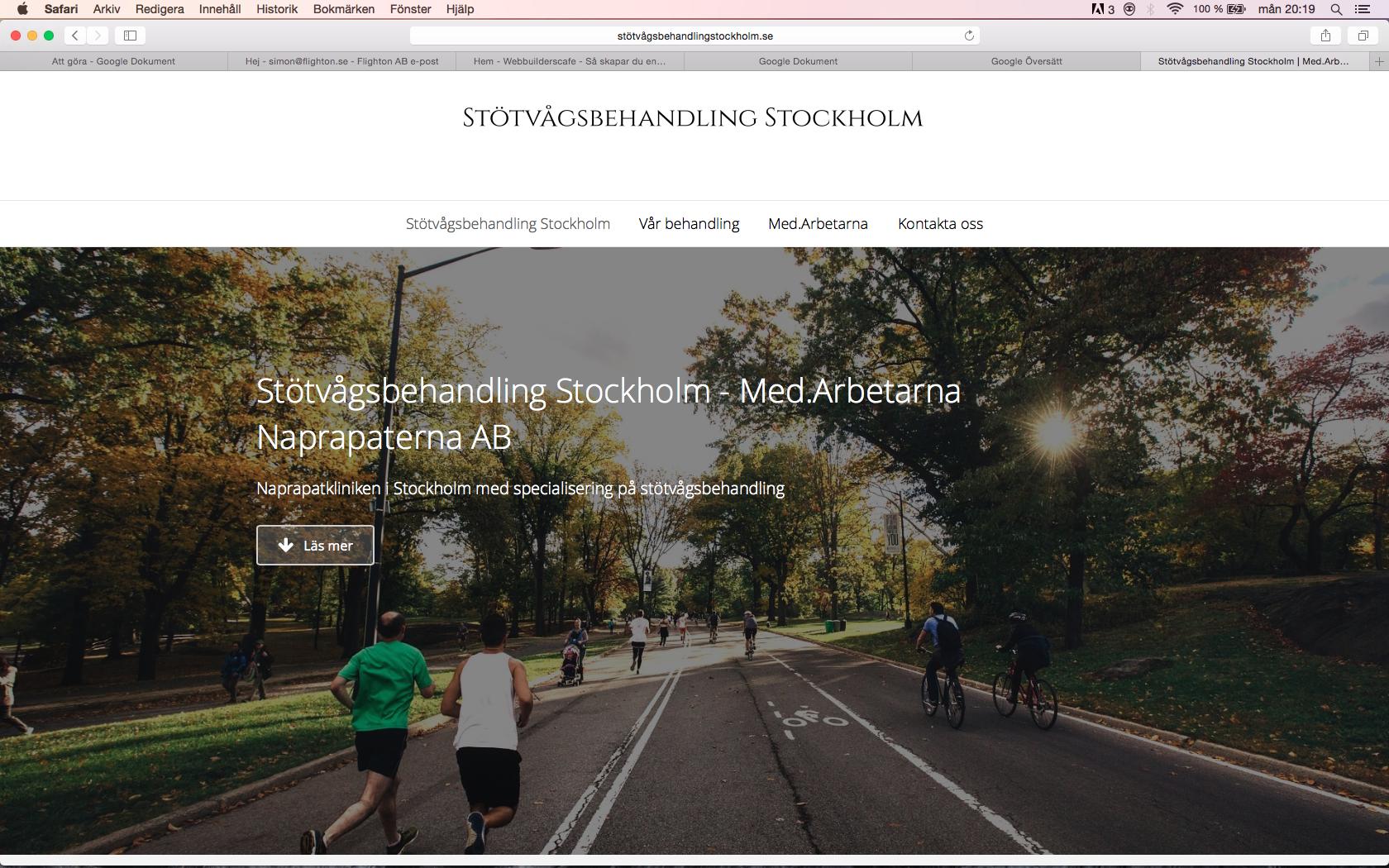stötvågsbehandling Stockholm